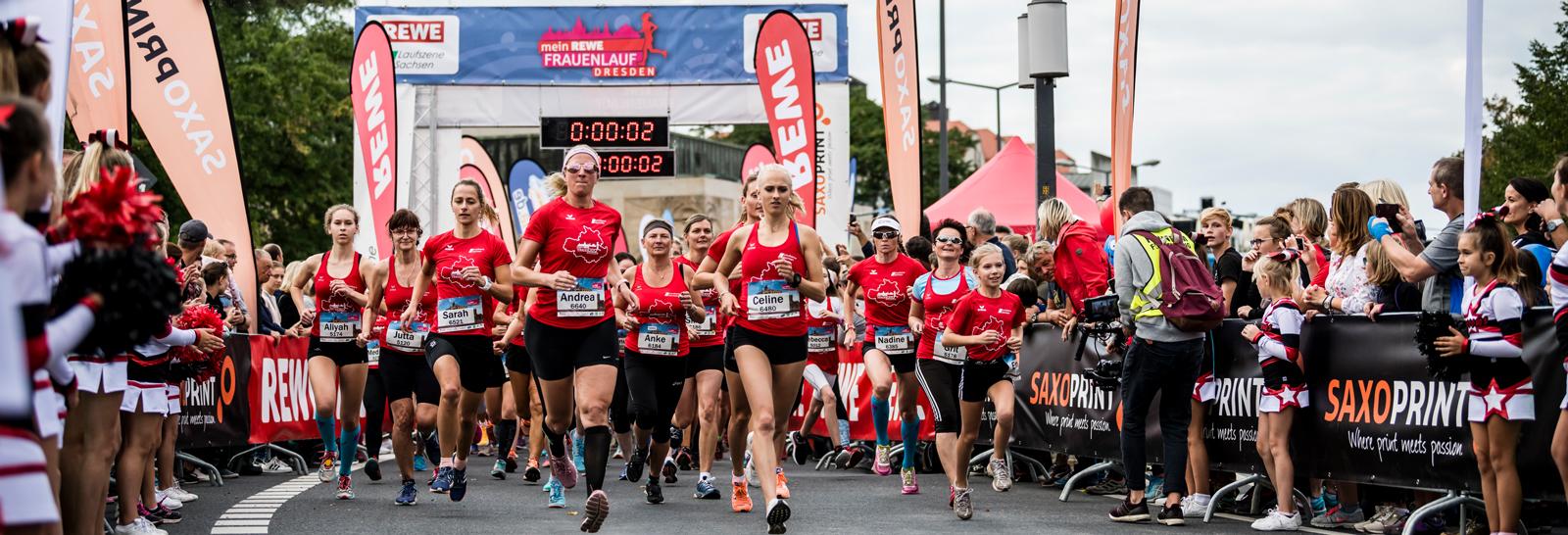 Rewe Frauenlauf Dresden Start